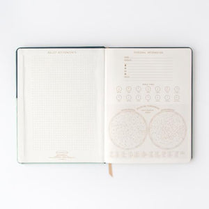 Navy / Light Blue Two Tone Vegan Leather Undated Planner