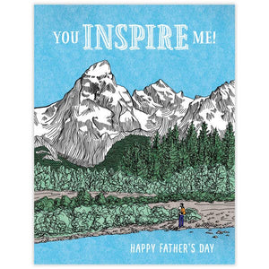 You Inspire Me Father's Day Card