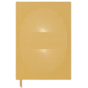 Ochre Radiant Sun notebook -  bookcloth cover