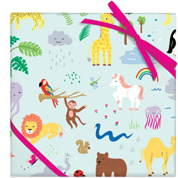 Jungle Animals Flat Wrap