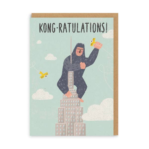 Kong-ratulations Greeting Card