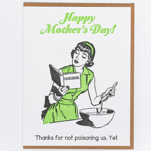 Mother's Day Poison Letterpress Greeting Card