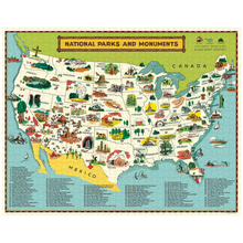 Load image into Gallery viewer, National Parks Map 1000 Pc  Puzzle