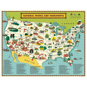 National Parks Map 1000 Pc  Puzzle