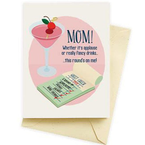 Round's on me Mother's Day Card