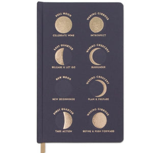 Moon Phases Dusk notebook -  bookcloth cover