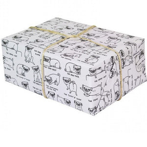 Pug Positions Gift Wrap Sheet