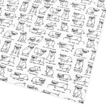 Load image into Gallery viewer, Pug Positions Gift Wrap Sheet