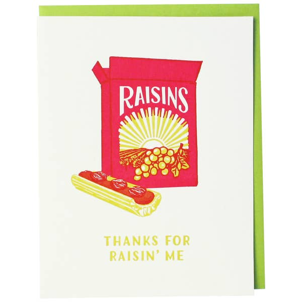 Box of Raisins Caregiver Card