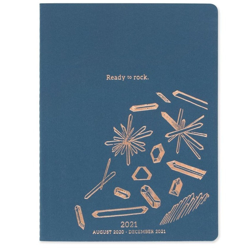 17 Month Planner - Ready to Rock Bookcloth Aug 2020- Dec 2021