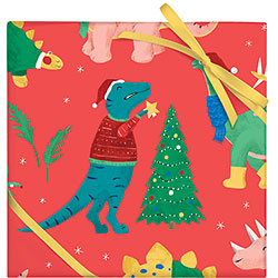 Santasaurus Wrap Flat Sheet