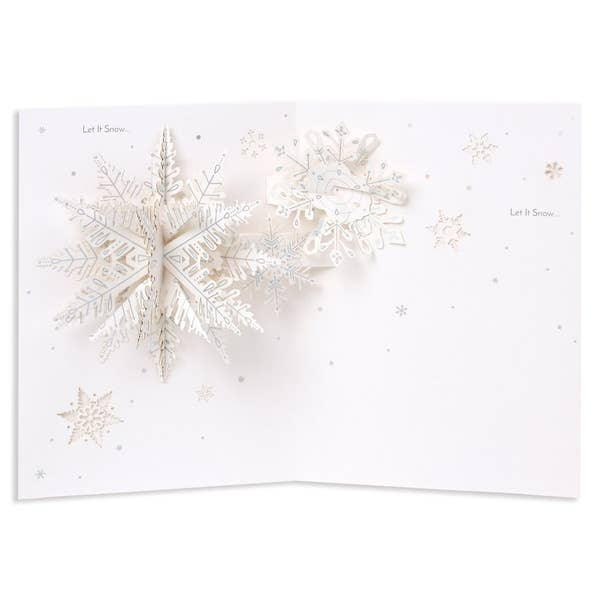 Let it Snow - Pop up Snowflake Card