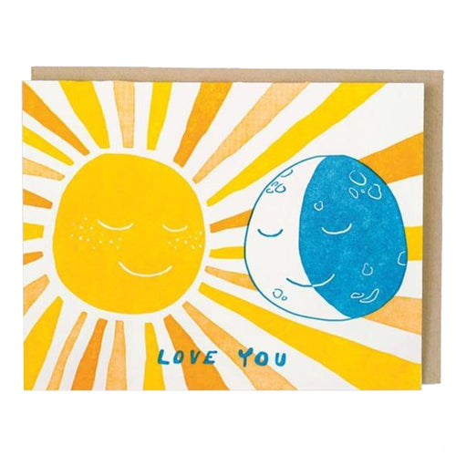 Sun and Moon Love Card