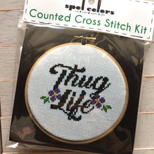 Load image into Gallery viewer, Thug Life Cross Stitch Kit
