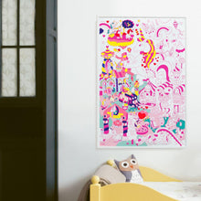 Load image into Gallery viewer, Giant Unicorn Coloring Poster - folded