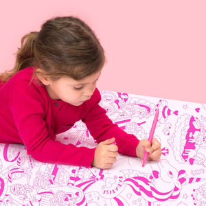 Giant Unicorn Coloring Poster - folded