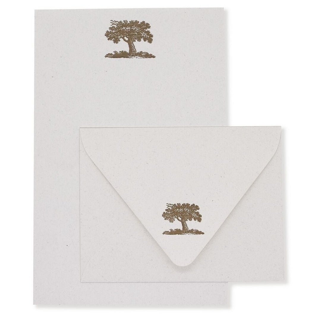 Oak Tree Stationery Set