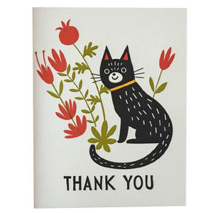 Thank You Flower Cat Card