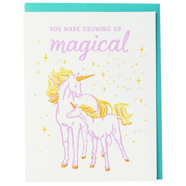 Unicorn Growing Up Magical Card