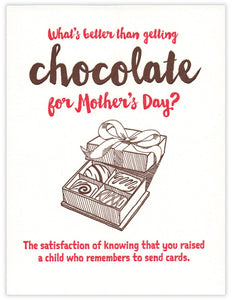 Mother's Day Chocolate Card