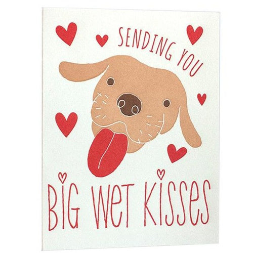 Big Wet Kisses Dog Card