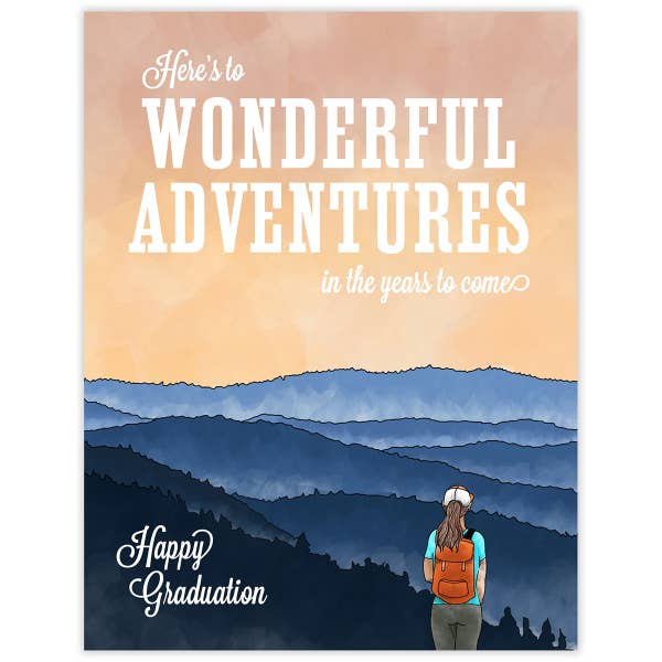 Wonderful Adventures Graduation Card