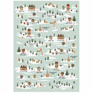 North Pole Flat Wrapping Sheet