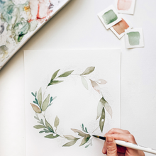 Load image into Gallery viewer, Wreath Art Watercolor Kit