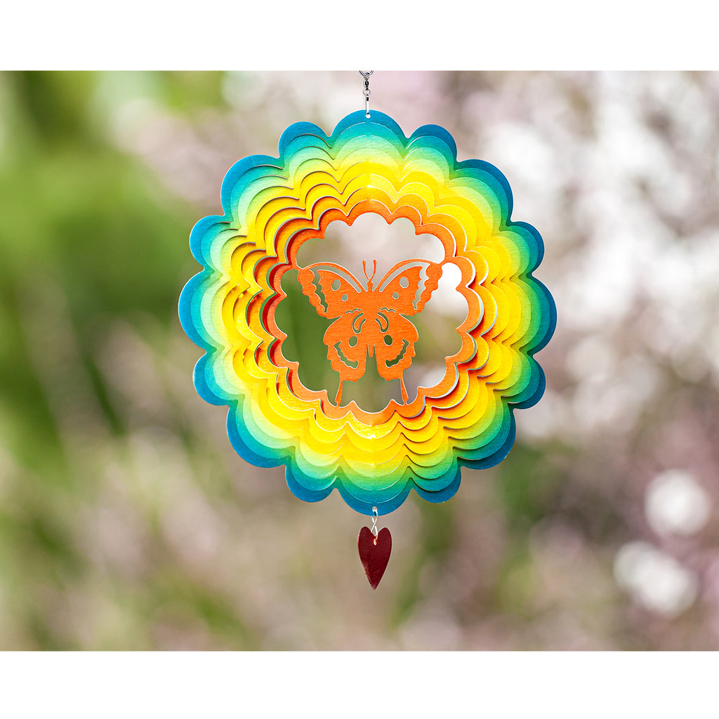 3D Wind Spinner lovefly 12in / Stainless Steel (US Only)