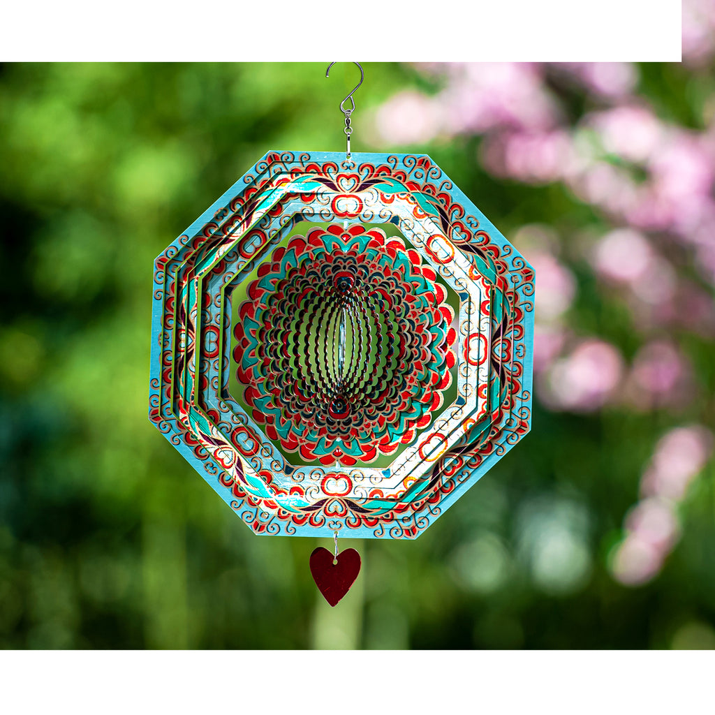 3D Wind Spinner Mandala Mystique 12in / Stainless Steel (US Only)