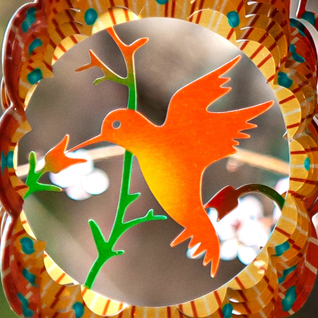 3D Wind Spinner Lovebird 12in / Stainless Steel (US Only)