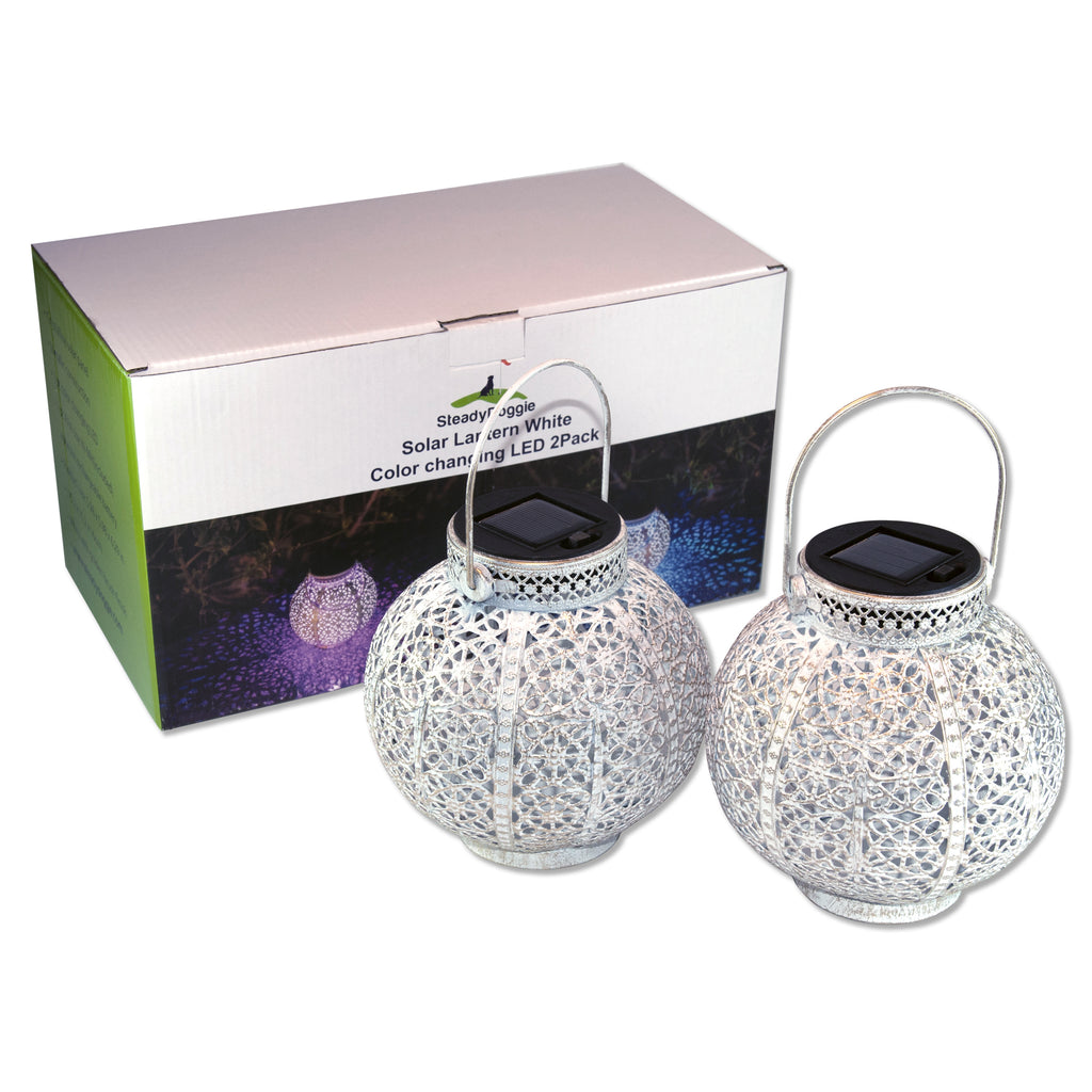 TH2002 - Solar Lantern 2 Pack (Color Changing) - US Only
