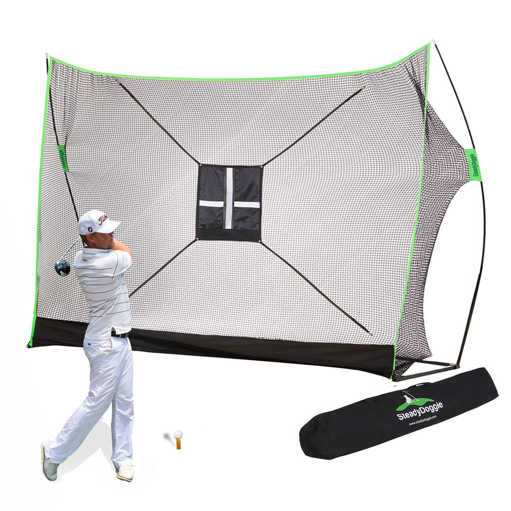 10x7ft Outdoors & Indoor Golf Net Bundle 3pc