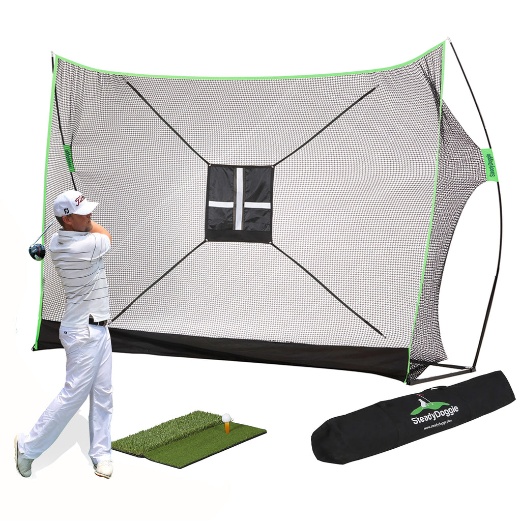 10x7ft Outdoors & Indoor Golf Net Bundle 4pc (US only)