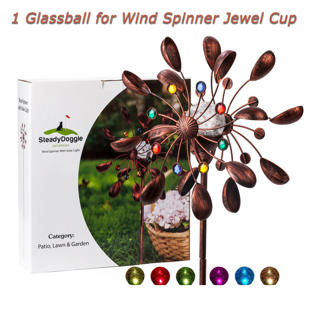 JS1009 - 1 Glassball for Wind Spinner Jewel Cup
