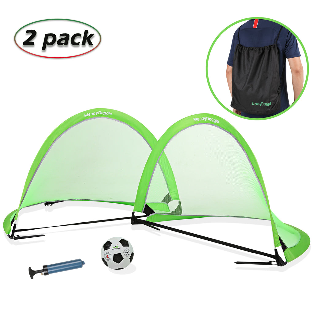 4ft/6ft Soccer Net Bundle 3pc (2 Pack) - US Only