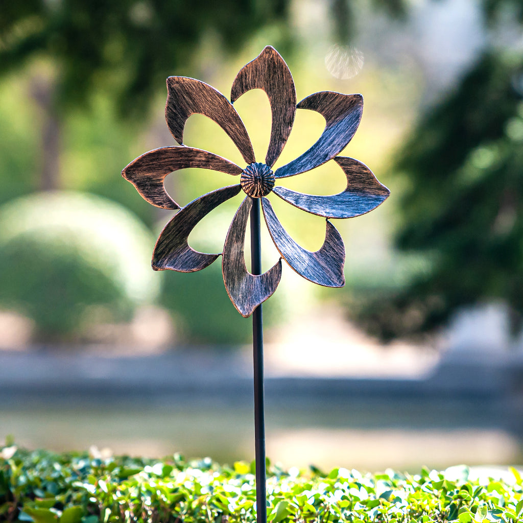 Wind Spinner Dahlia 61in - Single Blade Easy Spinning