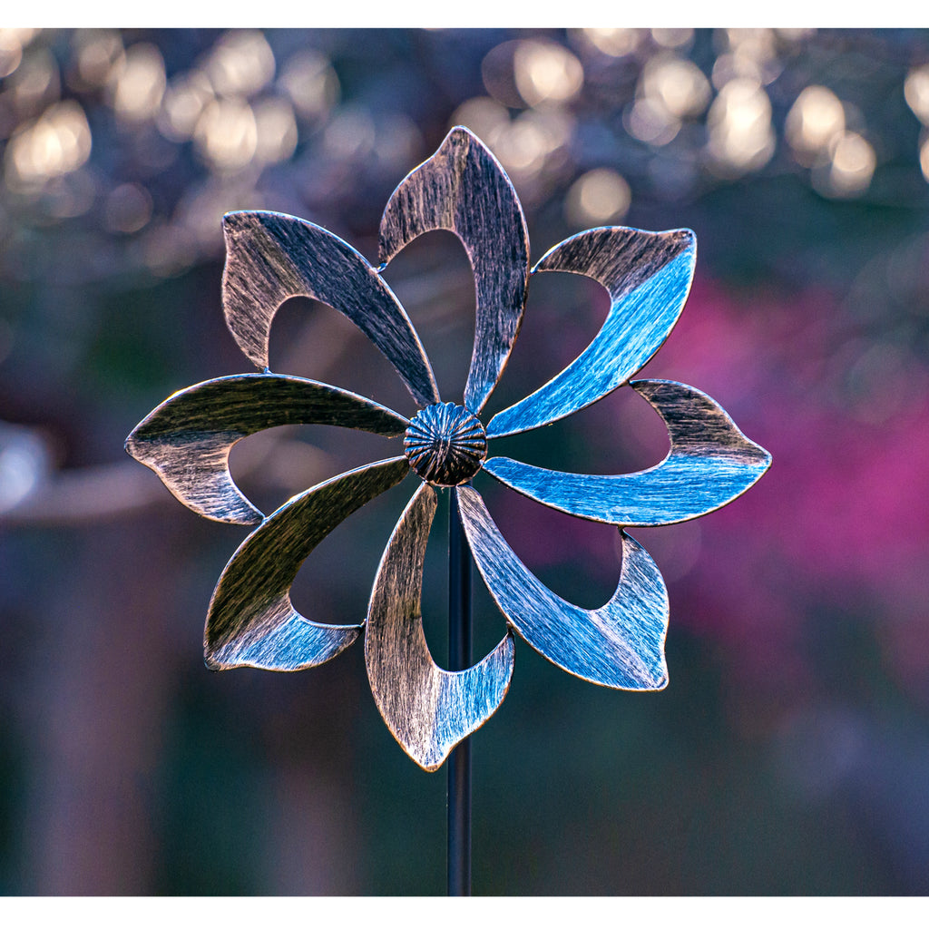Wind Spinner Dahlia 61in - Single Blade Easy Spinning (US Only)