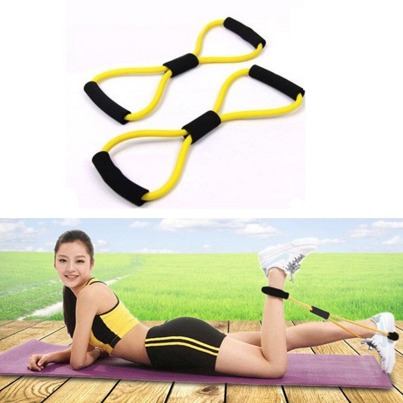 Fitness Gum Resistance Bands Latex Pedal Exerciser Sit-up Pull Rope Expander Elastic Bands