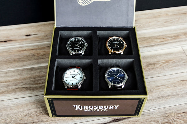 Kingsbury Cigar Box Watch Set