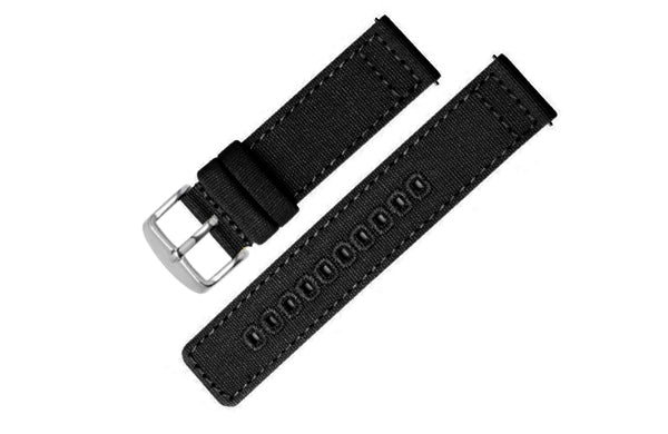 Canvas Strap (Black / Silver)