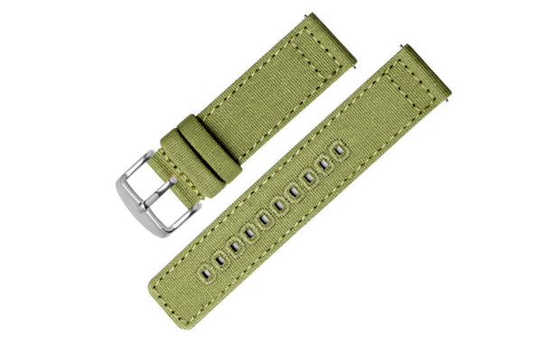 Canvas Strap (Olive / Silver)