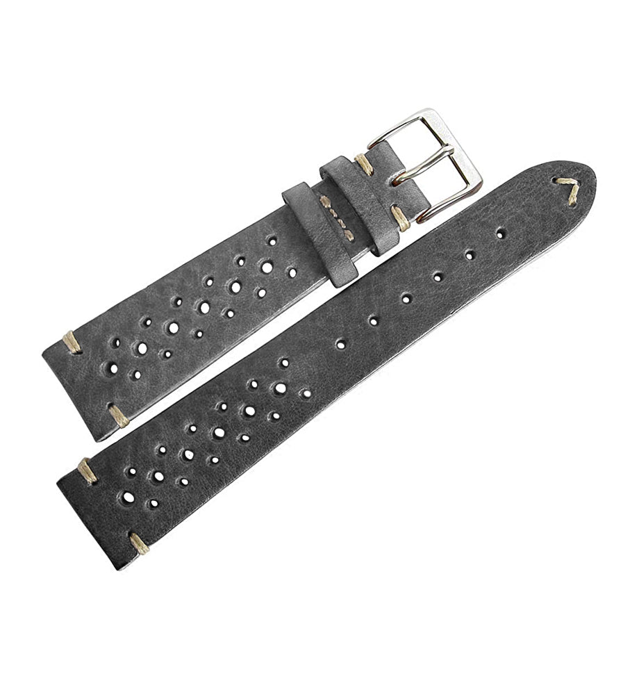 Vintage Leather Rally Strap (Grey)