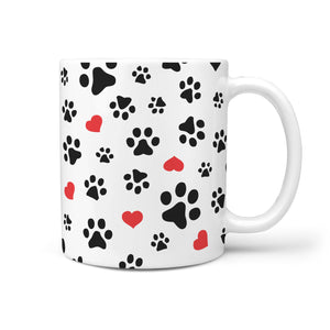 Paws and Hearts Coffee Mug - Cute Dog Mug - Mug For Dog Lover - Gift For Dog Lover