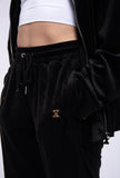 VELVET TRACKPANTS (BLACK)