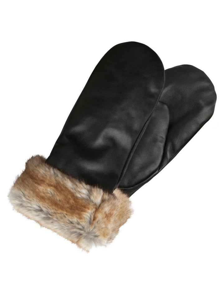 PIECES SIKA LEATHER MITTENS