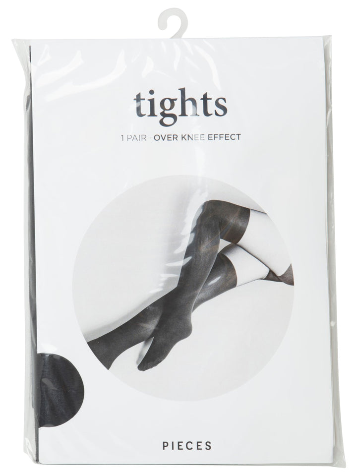 PIECES KATE TIGHTS WITH OVER KNEE EFFECT