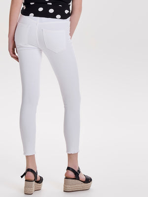 ONLY BLUSH RAW ANK JEANS