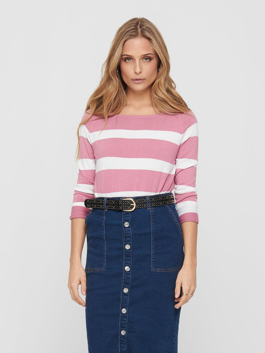 ONLY SELENA STRIPE PULLOVER