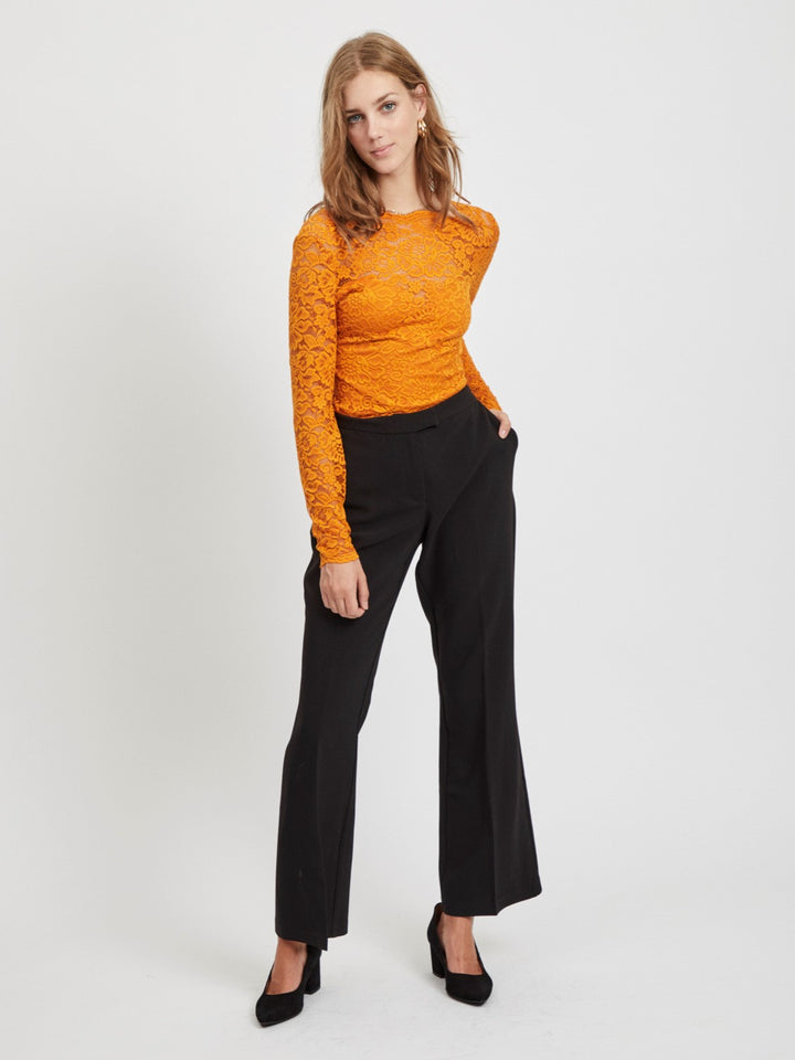 VILA CHARLOTTE FLARED PANTS